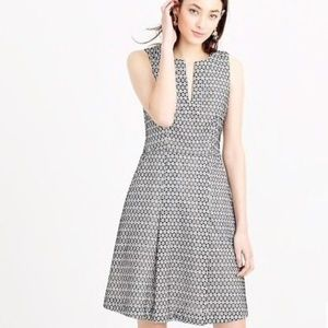 J Crew Fit and Flare Cotton Eyelet Dress 6